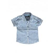 137604 Psychotropical baby boys blouse combo 1 blue checks (4 pcs)