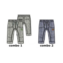Kinship baby boys jogging pant combo 2 twisted blue (4 pcs)
