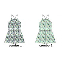 Psychotropical small girls overall combo 2 hint of mint (6 pcs)