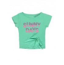 137658 Psychotropical small girls shirt  combo 1 jade cream (6 pcs)