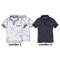 Kinship teen boys polo combo 2 blue nights (6 pcs)