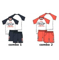 137751 Kinship small boys set combo 2 spiced coral (6 pcs)