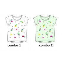Psychotropical small girls shirt  combo 2 hint of mint (6 pcs)