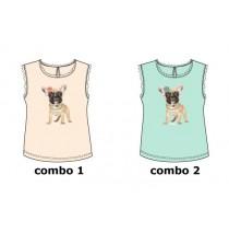 Kinship small girls shirt  combo 2 blue tint (6 pcs)