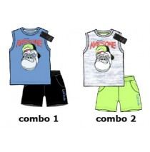 137844 Youth tonic small boys set combo 2 light gray melange (6 pcs)