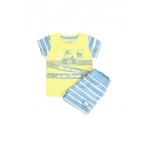 Psychotropical baby boys set: shirt+short combo 1 snapdragon (4 pcs)