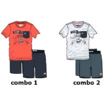 137854 Kinship small boys set combo 2 light gray melange (6 pcs)