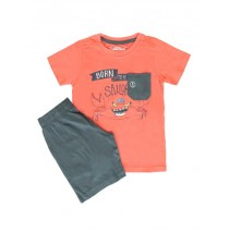 137854 Kinship small boys set combo 1 spiced coral (6 pcs)