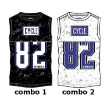 Kinship teen boys singlet combo 2 optical white (6 pcs)
