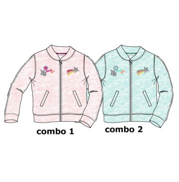 Youth tonic baby girls cardigan sweat combo 2 tropic blue melange (4 pcs)