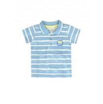 137929 Knship baby boys polo silver lake blue+spice coral (8 pcs)