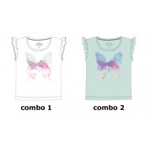Theme small girls shirt  combo 2 omphalodes (6 pcs)