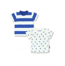 137973 Youth Tonic baby boys shirt 2 pack turkish sea+blue nights (8 pcs)