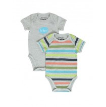 Psychotropical baby boys romper (2pack) combo 1 light grey melange (6 pcs)