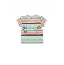 137987 Psychotropical baby boys shirt grey melange+blue nights (8 pcs)
