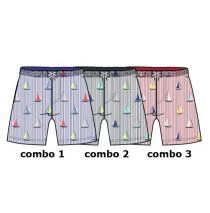 Kinship Small boys swimwear combo 3 american beauty (6 pcs)