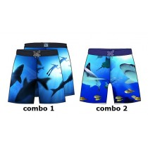 138028 Kinship Small boys swimwear combo 2 shark with fish (6 pcs)