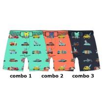 138029 Psychotropical Small boys swimwear combo 2 living coral (6 pcs)
