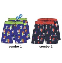 138032 Psychotropical Small boys swimwear combo 2 blue nights (6 pcs)