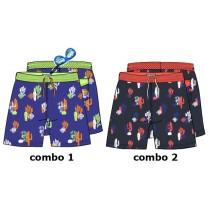 138032 Psychotropical Small boys swimwear combo 2 blue nights (6 pcs)