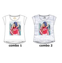 Youth Tonic Teen girls shirt combo 2 light grey melange (6 pcs)