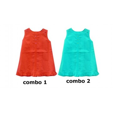 Youth tonic baby girls dress combo 2 scuba blue (4 pcs)