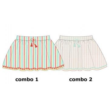 Youth Tonic baby girls skirt combo 2 pearl (4 pcs)