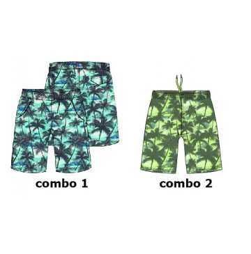Psychotropical teen boys swimwear combo 2 sharp green (6 pcs)