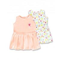 138088 Basic baby girls dress Two Pack combo 1 optical white (4 pcs)