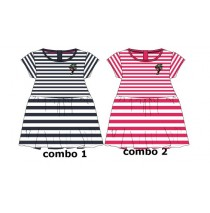 Youth tonic baby girls dress combo 2 azalea (4 pcs)
