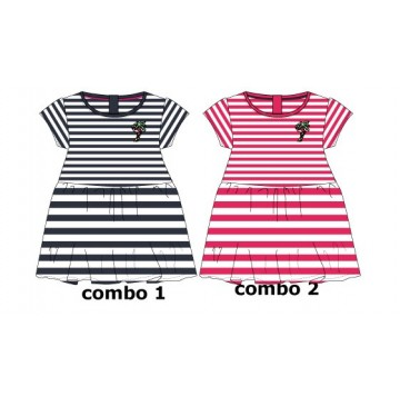 138090 Youth tonic baby girls dress combo 2 azalea (4 pcs)