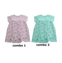 138092 Kinship baby girls dress combo 2 blue tint (4 pcs)