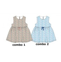 Kinship baby girls dress combo 2 omphalodes (4 pcs)