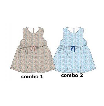 138094 Kinship baby girls dress combo 2 omphalodes (4 pcs)