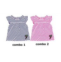 Youth Tonic baby girls shirt combo 2 azalea (4 pcs)
