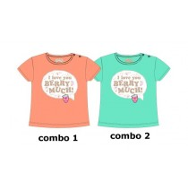 Psychotropical baby girls shirt combo 2 scuba blue (4 pcs)