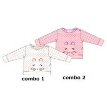 Kinship baby girls sweatshirt combo 2 orchid pink (4 pcs)