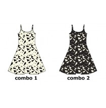 Psychotropical teen girls dress combo 2 marshmallow (6 pcs)