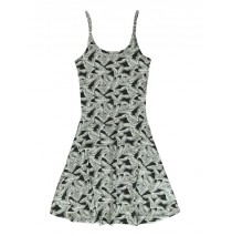 138176 Psychotropical teen girls dress black+marshmallow (12 pcs)