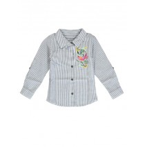 Psychotropical small girls blouse blue (5 pcs)