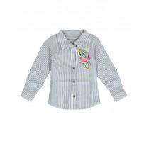 Psychotropical small girls blouse blue (5 pcs)