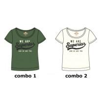 Psychotropical Teen girls shirt combo 2 marshmallow (6 pcs)