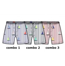 Kinship baby boys swimwear combo 3 american beauty (4 pcs)