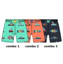 Youth Tonic baby boys swimwear combo 2 living coral (4 pcs)