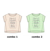 Psychotropical Teen girls shirt combo 2 jade cream (3 pcs)