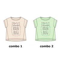 Psychotropical Teen girls shirt combo 2 jade cream (3 pcs)