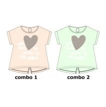Psychotropical Teen girls shirt combo 2 hint of mint (5 pcs)