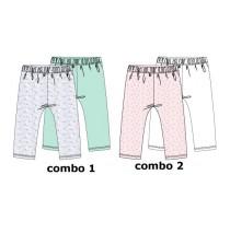 138268 Youth Tonic baby girls legging (2-pack) combo 2 pink melange (4 pcs)