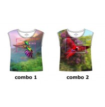 Psychotropical small girls shirt  combo 2 parrot (6 pcs)