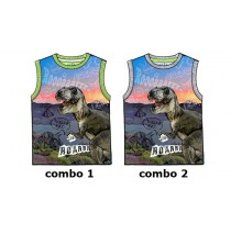 Youth tonic small boys singlet combo 2 light gray melange (6 pcs)